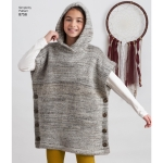 Child`s and Girls` Poncho and Leggings, Simplicity Pattern #8756