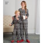 Laste, tüdrukute ja poiste kombinesoon; teismeliste ja täiskasvanute püksid ja trikootopp, suurused: A (XS - L / XS - XL), Simplicity Pattern #8269