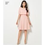 Imeliselt Istuv: naiste kleit: (Slim, Average ja Curvy Fit), Simplicity Pattern #8047