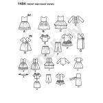 45cm pikkuse nuku nukuriided, Simplicity Pattern #1484