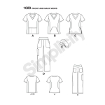 Women`s and Plus Size Scrubs, Simplicity Pattern #1020