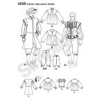 Meeste kostüümid, suurused: A (XS,S,M,L,XL), Simplicity Pattern #4059