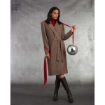 Naiste ja väikesekasvuliste Petite-naiste voodriga mantel, Simplicity Pattern #8796