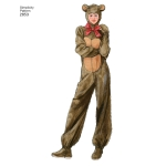 Adult Costumes, Sizes: A (XS,S,M,L,XL), Simplicity Pattern #2853