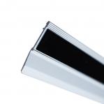 Kevyt metalliviivain (alumiini), 100cm, SewMate CS-1000 Libisemisvastane kummikiht joonlaua all. Non-slip layer under ruler.