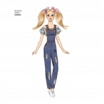 29cm (11 1/2`) Fashion Doll Clothes, Sizes: OS (ONE SIZE), Simplicity Pattern #S8865