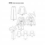 Naiste jakk, topp ja püksid, Simplicity Pattern #8794