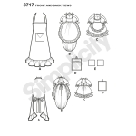 Kitchen Accessories and Apron, Sizes: OS (ONE SIZE), Simplicity Pattern #8717