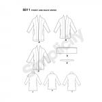 Naiste trikoosviiter, sall ja juuksepael, suurused: A (XS-S-M-L-XL), Simplicity Pattern #8811