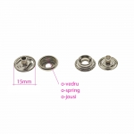 Pliers for ø15 mm o-spring press buttons & 4 sets of press buttons, PLS-203