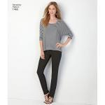 Naiste trikoo-topid, suurused: A (XXS-XS-S-M-L-XL-XXL), Simplicity Pattern #1463