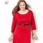 Naistele pluss-suuruses: kleit, Simplicity Pattern #1537