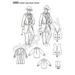 Men Western Costumes, Simplicity Pattern #2895