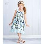Laste ja tüdrukute Pullover kleidid, suurused: k5 (7-8-10-12-14), Simplicity Pattern #1121