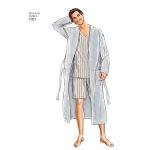 Meeste klassikalised pidžaamad ja hommikumantlid, suurused: A (XS-S-M-L-XL), Simplicity Pattern #1021