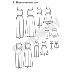 Matching outfits for Women`s, Child and 18` Doll, Sizes: A (3 - 8 /XS-XL), Simplicity Pattern #8146