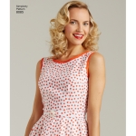 Naiste vintage 1950`ndate hõlmikkleit kahes pikkuses, Simplicity Pattern #8085