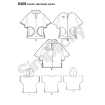 Lapse pontso kahes pikkuses, suurused: A (S-M-L), Simplicity Pattern # 8428