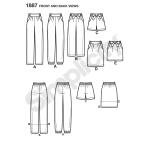 Naiste püksid ja seelikud, Simplicity Pattern #1887