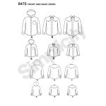 Meeste ja poiste jakk ja särk, suurused: A (S - L / S - XL) Simplicity Pattern #8475