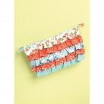 Shoulder Bag and Cosmetic Pouch with Contrast Ruffles, Kwik Sew K0222