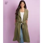Naiste ja väikesekasvuliste Petite-naiste mantlid ja jakid, Simplicity Pattern # 8554