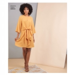 Naiste ja väikesekasvuliste Petite-naiste esilehviga kleit, Simplicity Pattern #S8834