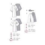 Aasia pükskostüüm, Lõiked suurustele (Eur Sizes) 36-46 / Asian Coordinates / Burda 3044