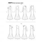 Naiste ja väikesekasvuliste Petite-naiste kleit, Simplicity Pattern #S8870
