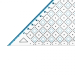Triangle Plastic Clear View Ruler 19cm, Le Summit 34219
