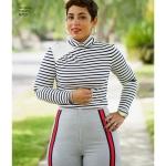 Naiste topp ja laia säärega püksid by Mimi G Style, Simplicity Pattern #8750