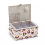 Fabric Covered Sewing Basket, Hoot, Hobby Gift MRM.195