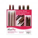 KnitPro sukavarraste komplekt Symfonie Wood, lühikesed 15cm / Symfonie Wood Double Pointed 15cm Sock Needle Set / KnitPro 20651