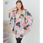 Naiste kimonod eri stiilides, suurused: A (XXS-XS-S-M-L-XL-XXL), Simplicity Pattern #8091