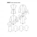 Naiste ja väikesekasvuliste Petite-naiste kraega särk, Simplicity Pattern #S8837