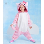 Toddlers` Animal Costumes, Sizes: A (1/2-1-2-3-4), Simplicity Pattern #1032