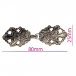 Fashion Clasps, pair size 80mm x 25mm