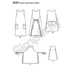 Naiste Dottie Angel ümberpööratav põll-kleit ja keep, suurused: A (XS-S-M-L-XL), Simplicity Pattern #8230