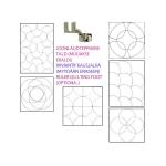 Clear View quilting foot ruler set, 5 pcs, max ø26,6cm, Yütien Design NR5-11