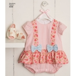 Babies` Rompers, Sandals, and Stuffed Duck, Sizes: A (XXS-XS-S-M-L), Simplicity Pattern #8098