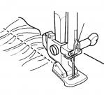 Krookimistald Janome kiirkinnitusega masinatele (suurim õmbluslaius 5 mm - 7 mm) D13