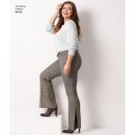 Naiste ja väikesekasvuliste Pluss-suuruses naistele Imeliselt-Istuvad püksid, Simplicity Pattern #8744