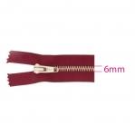 Closed end Metal Zippers, Metal zip fasteners, 18cm