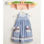 Laste Ruby Jean` kleidid ja kotikesed, suurused: A (3-4-5-6-7-8), Simplicity Pattern #8565
