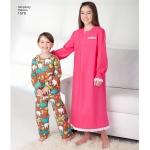 Child`s, Girls`, and Boys` Loungewear, Simplicity Pattern #1570