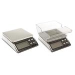 Väike digitaalne lauakaal kaalumis-valamiskausiga, 11 x 7,5 x 3 cm, kuni 500 g; -/+ 0,1 g, KL1705