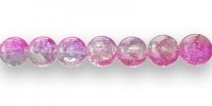 KE1 14mm Lillakas, sinakas, roosa mõraline klaashelmes