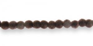 CC4 6mm Tumepruun Sametkattega helmes
