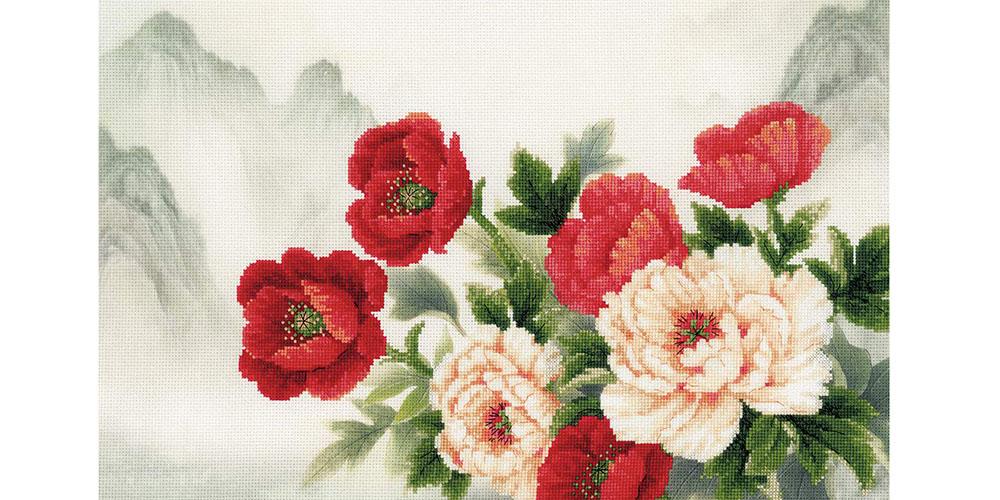 "/""Oriental Bouquet/"" Cross Stitch Kit RIOLIS 0050"