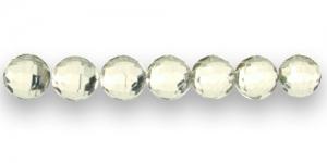 AD17 10mm Helekollane läbipaistev tahuline akrüülh